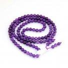 6mm 108 Purple Crystal Quartz Stone Beads Buddhist Prayer Mala  ZZ210