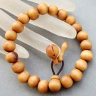 10mm Wood Beads Budddhist Prayer Wrist Mala Bracelet  T2595