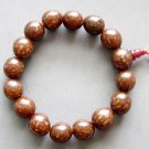 12mm Flower Bodhi Pu-Ti Beads Buddhist Prayer Mala Bracelet  T2604