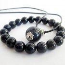 Blue Sandstone Beads Pendant And Bracelet Set  T2631