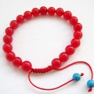 8mm Red Stone Beads Bracelet  T2661