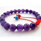 8mm Purple Stone Beads Bracelet  T2665