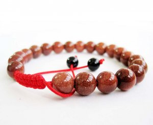 8mm Goldstone Gem Beads Bracelet  T2668