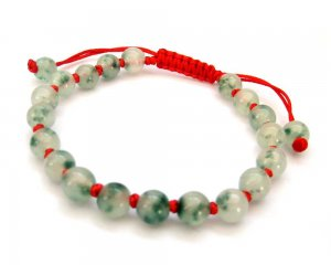 8mm Jade Beads Knot Bracelet  T2696