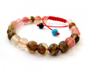 8mm Watermelon Stone Beads Bracelet  T2707