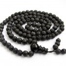 6mm 108 Valcano Stone Beads Buddhist Prayer Rosary Mala  ZZ224