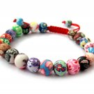 8mm Fimo Ploymer Clay Beads Bracelet  T2775