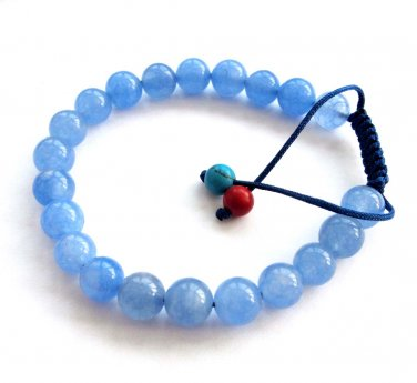 8mm Skyblue Stone Beads Bracelet  T2857