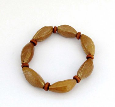 Olive-Pit Beads Bracelet  T2917