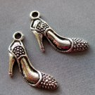25Pcs Alloy Metal Lady-Shoe Pendant Beads Finding 20mm*15mm  ja0006