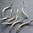 20Pcs Alloy Metal Curve Tube Beads Finding 28mm*2mm  ja0023