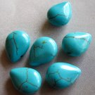 20Pcs Blue Turquoise Dripping Beads Finding 16mm x 12mm  ja0002