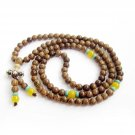 6mm 108 Ji-Chi-Mu Wood Beads Buddhist Prayer Meditation Mala  ZZ230