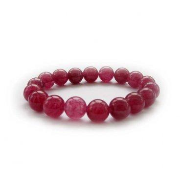 10mm Wine Red Jade Beads Tibet Meditation Prayer Yoga Bracelet  T2999