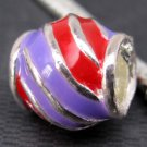 5Pieces Enamel Alloy Metal Cask Bucket Big Hole Beads Finding 12mm*5mm  ja0069