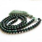 8mm 108 Black Green Stone Meditation Yoga Tibet Buddhist Prayer Beads Mala Necklace  ZZ270