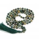 6mm Knotted Round Indian Agate 108 Prayer Beads Tibet Buddhist Japa Mala  ZZ295