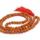 6mm Tibet Buddhist Natural Red Aventure A Grade Round Beaded 108 Prayer Beads Rosary Mala  ZZ299