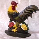 Cast Iron Colorful Rooster