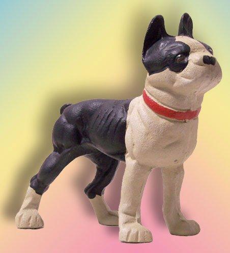 Cast Iron Doorstop Bulldog/Boston Terrior