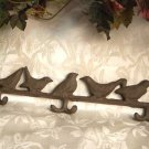 Cast Iron Bird Hat/Coat Rack