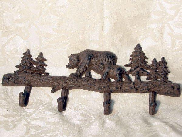 Cast Iron Bear Coat/Hat Rack
