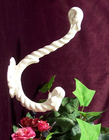 Cast Iron Antique White Rope Hook