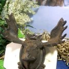 Cast Iron Moose Head Wall Hook