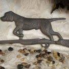 Cast Iron Hunting Dog On Rifle Plaque