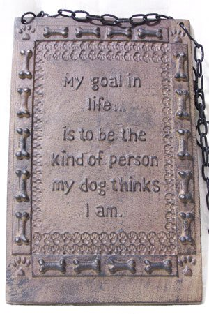 Cast Iron Life's Goal Plaque