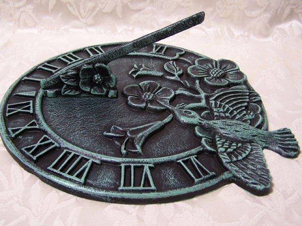 Cast Iron Hummingbird Sundial