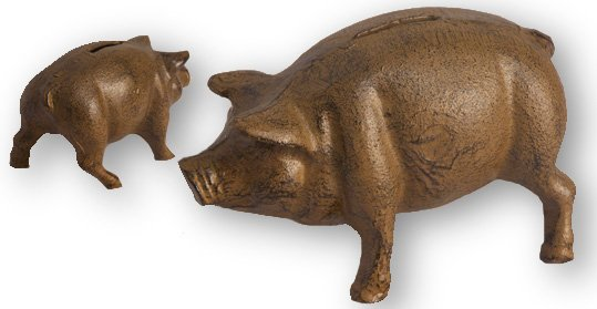 Cast Iron Pig Bank Rust