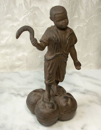 Cast Iron Cotton-Boy Bank