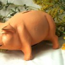 Cast Iron Pink Piggy Bank