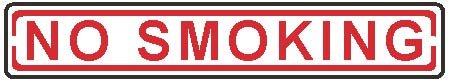 "Street Sign ""No Smoking"""