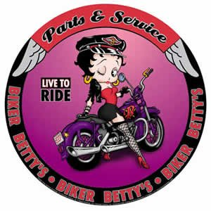 Betty Boop Parts & Service Round