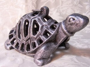 LARGE Cast Iron Turtle/Tortoise Lantern