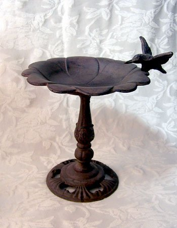 Cast Iron Bird Bath 9""