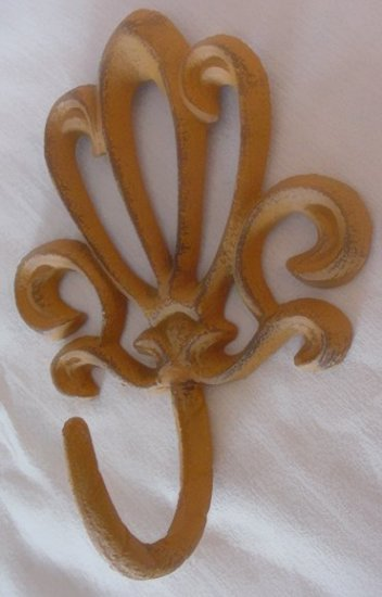 Cast Iron French Style Set of 6 Wall Hooks