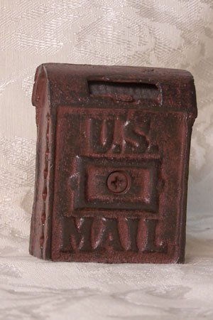 Cast Iron Mail Box Bank