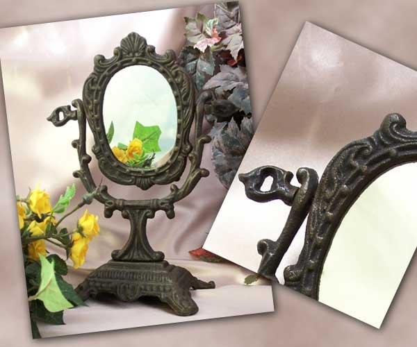 Cast Iron Victorian Style Mirror