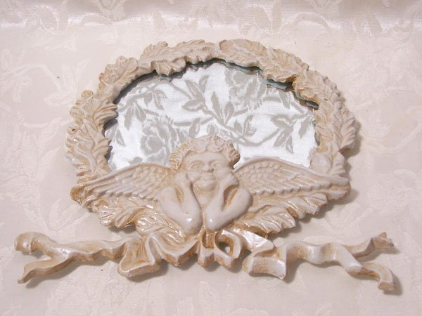 Cast Iron Angel Mirror
