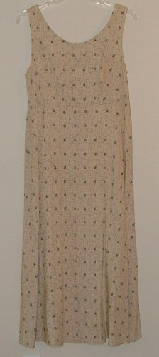 Classic Beige and Black Rayon Dress size 8