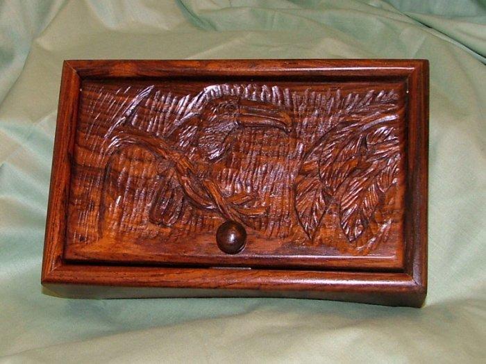 Carved Toucan Keepsake Box