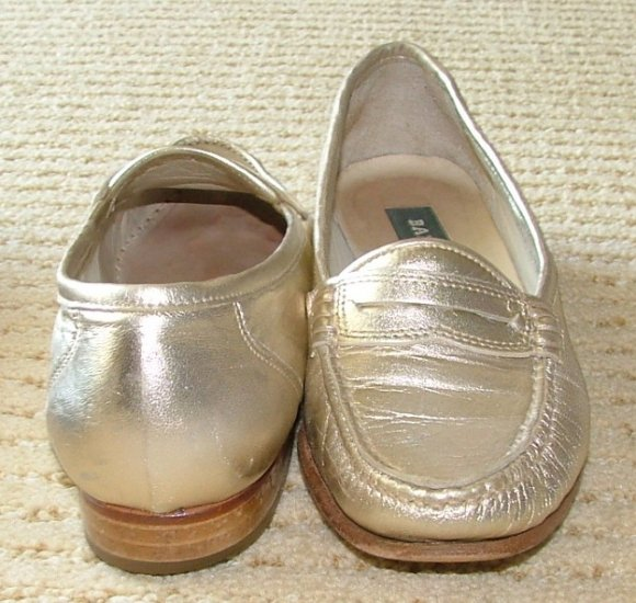 Vintage BALLY Mauria Gold Womens 5 1/5 M