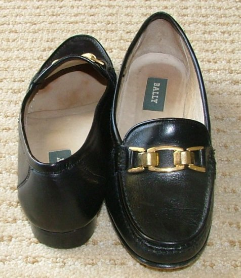 VINTAGE BALLY Imogene Womens 5 1/5 M Black