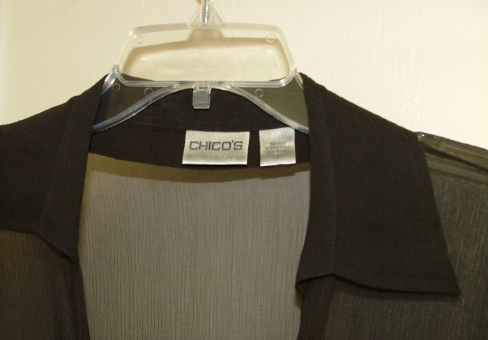 Brown Sheer overblouse brown by Chico size 1