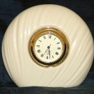 Lenox Richmond Swirl Clock Quartz Movement Japan Desk Mantel Table