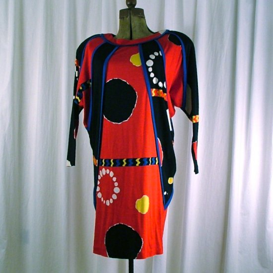 Vintage 80's Jeanne Marc Round necked Dress Small 8/10