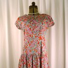 Vintage SKYR Red Print Cotton Drop-Waist Dress 6-8